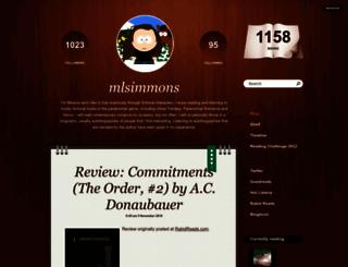 mlsimmons.booklikes.com screenshot