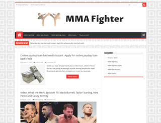mma-fighter.com screenshot