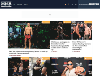mmafighting.com screenshot