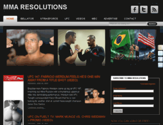 mmaresolutions.com screenshot
