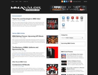 mmavalor.com screenshot
