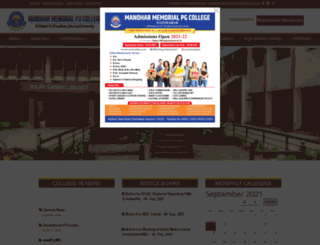 mmcollegeonline.com screenshot