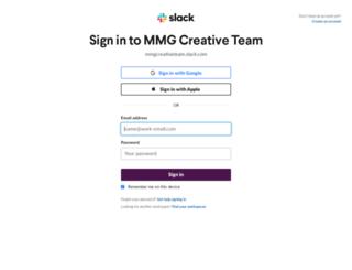 mmgcreativeteam.slack.com screenshot