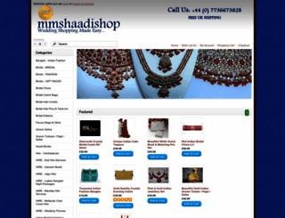 mmshaadishop.com screenshot