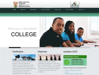 mnambithicollege.co.za screenshot