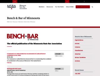 mnbenchbar.com screenshot
