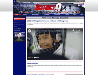 mndistrict9hockey.com screenshot
