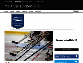 mngirlshockeyhub.com screenshot