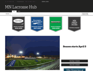 mnlaxhub.com screenshot