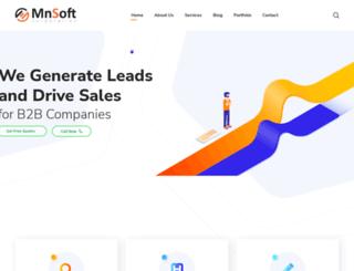 mnsoftech.com screenshot