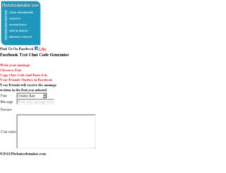 mobi.fbchatcodemaker.com screenshot