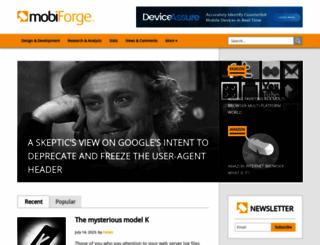 mobiforge.com screenshot