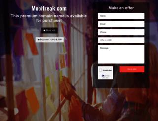 mobifreak.com screenshot