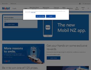 mobil.co.nz screenshot