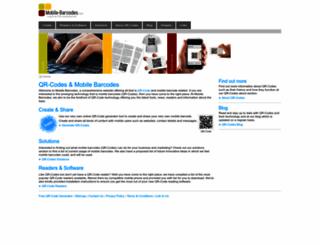 mobile-barcodes.com screenshot