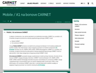 mobile.carnet.hr screenshot