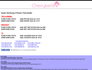 mobile.cherrybelle.info screenshot