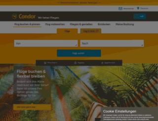 mobile.condor.com screenshot