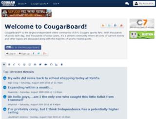 mobile.cougarboard.com screenshot