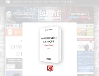 mobile.egaliteetreconciliation.fr screenshot