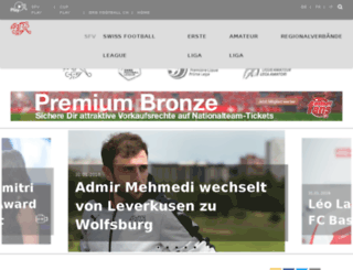 mobile.football.ch screenshot