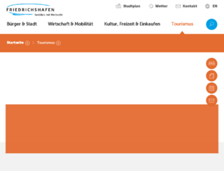 mobile.friedrichshafen.info screenshot