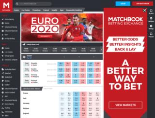 mobile.matchbook.com screenshot