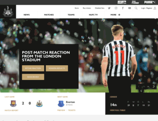 mobile.nufc.co.uk screenshot