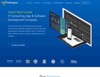 mobile.pixelcrayons.com screenshot