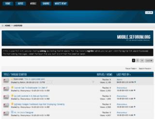 mobile.seforum.org screenshot