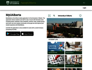mobile.ualberta.ca screenshot