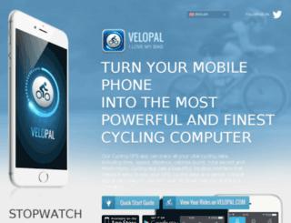 mobile.velopal.com screenshot