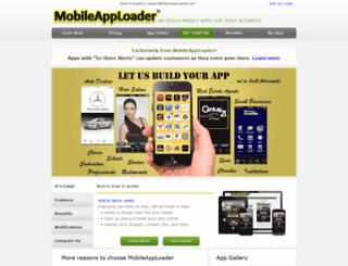 mobileapploader.com screenshot