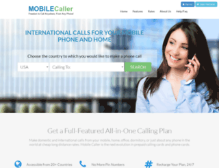 mobilecaller.com screenshot