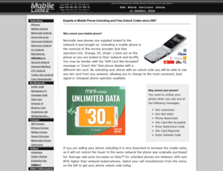 mobilecodez.com screenshot
