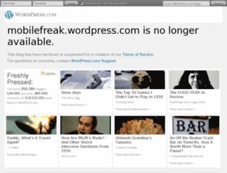 mobilefreak.wordpress.com screenshot