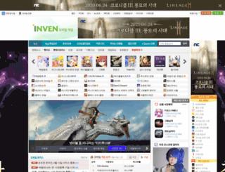 mobilegame.inven.co.kr screenshot