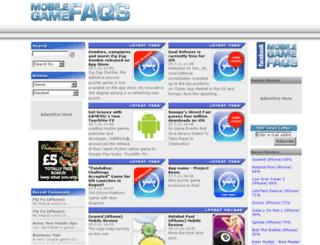 mobilegamefaqs.com screenshot