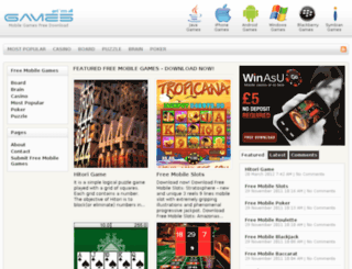 mobilegamesfreedownload.com screenshot