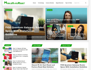 mobilehardreset.com screenshot