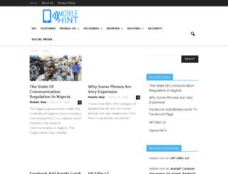mobilehint.com screenshot