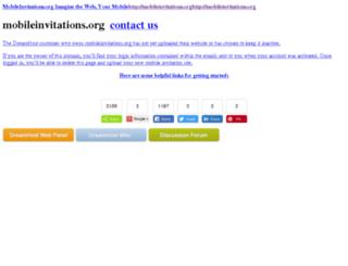 mobileinvitations.org screenshot