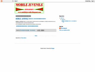 mobilejuvenile.blogspot.com screenshot