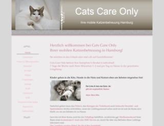 mobilekatzenbetreuung.com screenshot