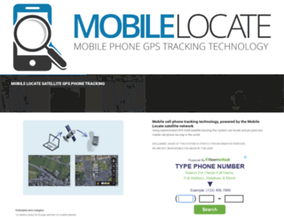 mobilelocate.net screenshot