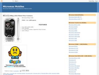 mobilemicromax.blogspot.com screenshot