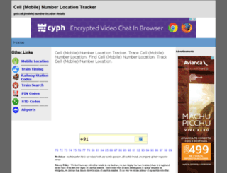 mobilenumber.biz screenshot
