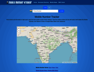 mobilenumbertracker.com screenshot