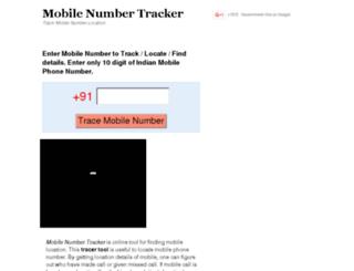 mobilenumtracker.com screenshot
