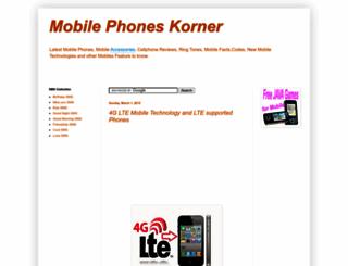 mobiles-korner.blogspot.com screenshot
